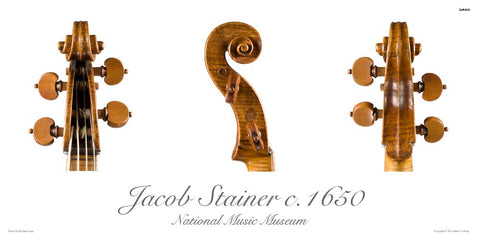 Photo of Jacob Stainer tenor viola scroll, 1650