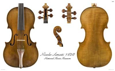 Luthier's Library Photos:  Violin by Nicolo Amati, 1628
