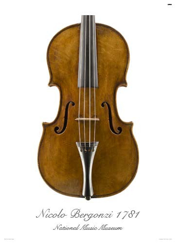 Luthier's Library Photos:  Viola by Nicola Bergonzi, 1781