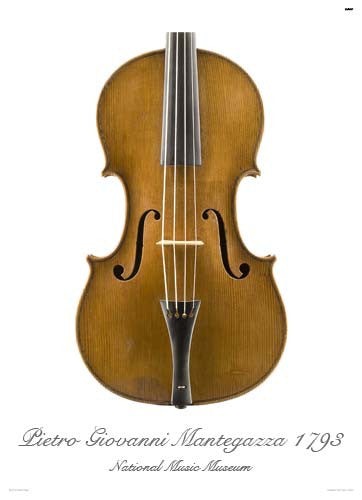 Luthier's Library Photos:  Viola by Pietro Giovanni Mantegazza, 1793