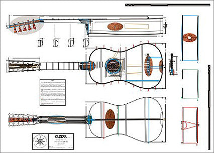 Technical Drawing: Guitar (