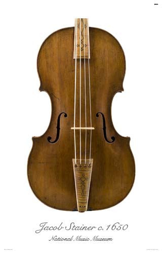 Luthier's Library Photos:  Tenor Viola by Jacob Stainer, 1650