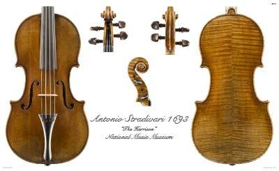 Luthier's Library Photos:  Violin by Jacob Stainer, 1668