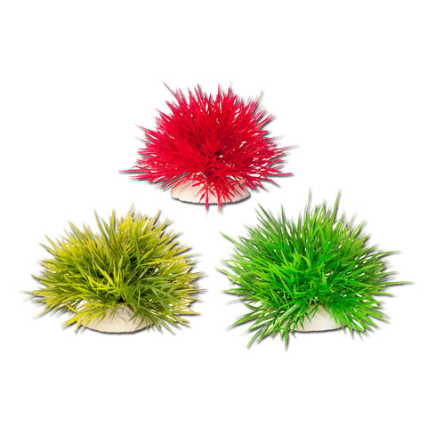 "4"" Spiky Ball Red/Dark Green/Light Green with Weighted Base, 3pc/Bag"
