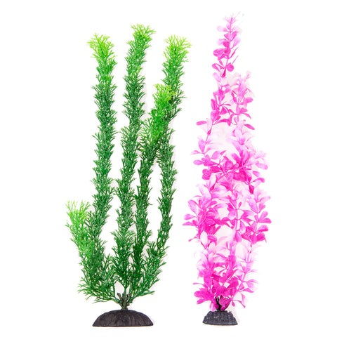 "2-Pack Multi-colored, Green/ Pink Approx. 15"" Plant Decor"