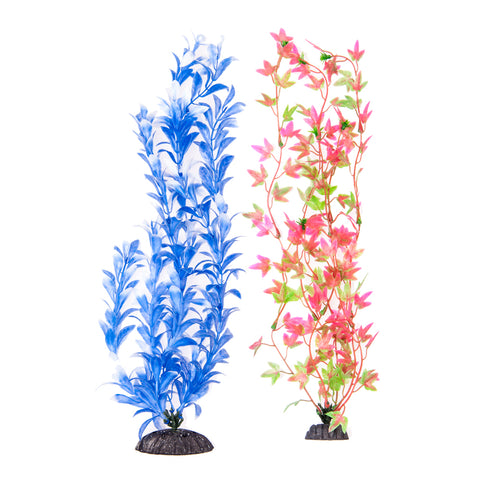 "2-Pack Multi-colored, Green/ Pink & Blue/ White, Approx. 15"" Plant Decor"