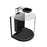 PISCES Nano Bowfront Glass Aquarium, 3 Gallons