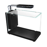 PISCES Modern Bullet-shaped Glass Aquarium, 5 Gallons