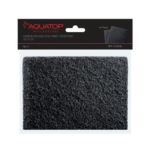 "Carbon Infused Filter Pads, 18""x10"", 2pcs/Bag"
