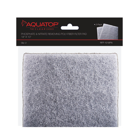 "2-in-1 Phosphate & Nitrate Removing Filter Pads, 18""x10"", 2pcs/Bag"