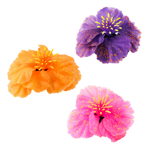 Aquatic Flowers Plant Décor, 3-Pack