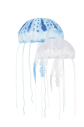Floating Jellyfish Decor 2pk - Blue/Clear