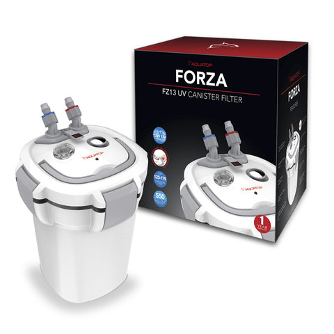 FORZA FZ13 UV Canister Filter with 13W UV Sterilizer - 550 gph