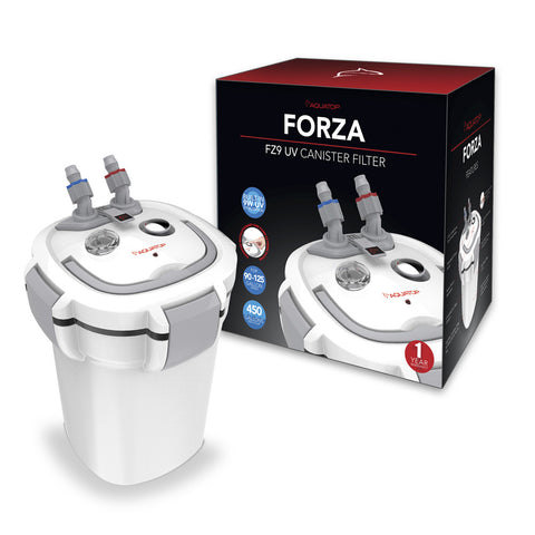 FORZA FZ9 UV Canister Filter with 9W UV Sterilizer - 450 gph
