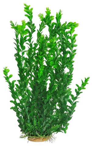 "Light Green Med. Leaf 25"" Aquarium Plant w/ Weighted Base"