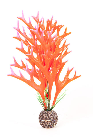 "Multi-colored, Pink/ Red Approx. 8"" Staghorn Plant Decor"