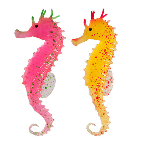 Silicone Aquarium Decor - Seahorse, 2-pack