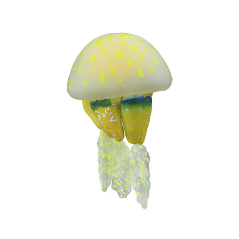 Silicone Jellyfish Decor, Rhizostome Pulmo, 1pc, Small