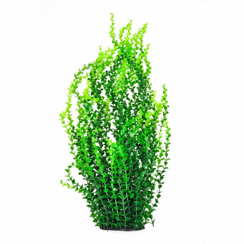 "Dark Green 30"" Aquarium Plant w/ Weighted Base"