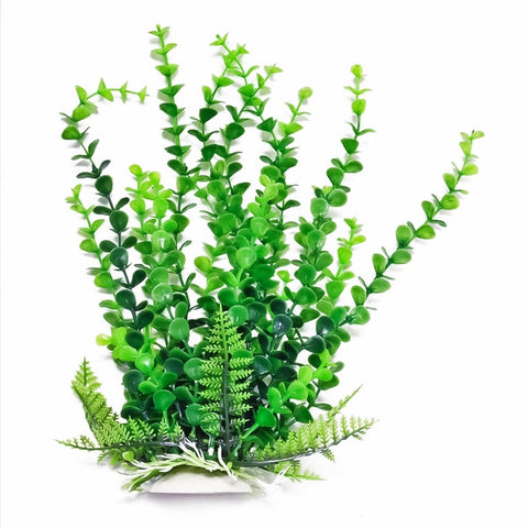 "Elodea-Like 9"" Aquarium Plant w/ Weighted Base"