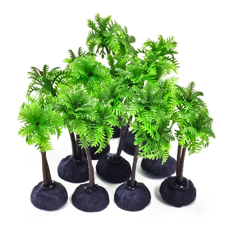 "Plastic Aquarium Plants - 4"" High (10-Pack)"