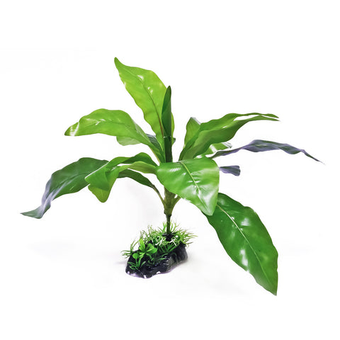 "Aquarium Plant - Silk Material - 12"" High"