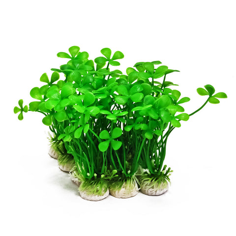 "Plastic Aquarium Plants - 5"" High (10-Pack)"
