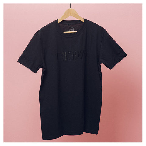 Black Embroidered T-Shirt