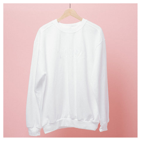 White Logo Embroidered Crewneck - The 1975 Official Merch and Online Store