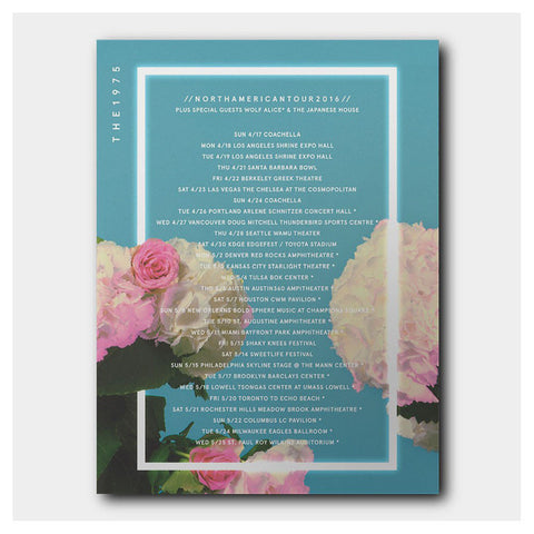 Blue Roses Tour Poster - The 1975 Official Merch and Online Store