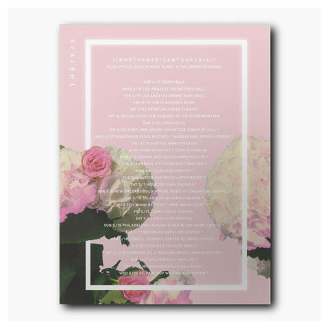 Pink Roses Tour Poster - The 1975 Official Merch and Online Store