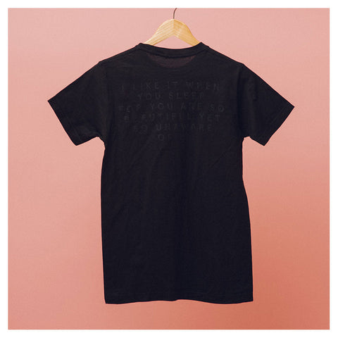 Black on Black Pop Up T-Shirt - The 1975 Official Merch and Online Store