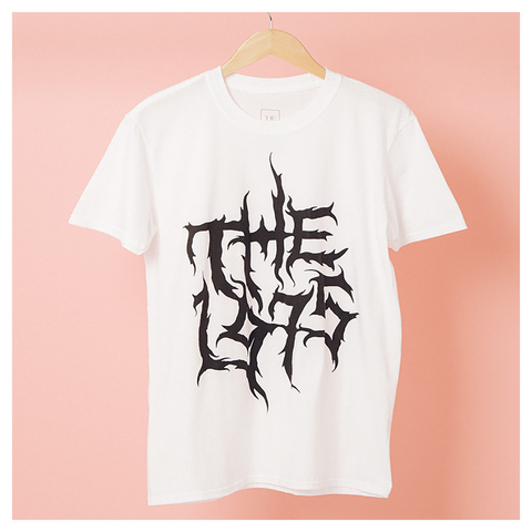 Black Metal Logo White T-shirt - The 1975 Official Merch and Online Store
