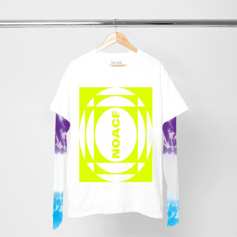 NOACF NEON INVERTED TIE DYE LAYERED LS T-SHIRT I