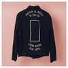Rock N Roll is Dead Black Denim Jacket