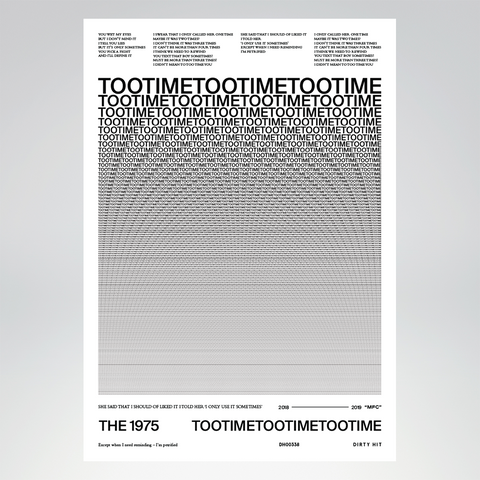 Too Time Lithograph + Digital Album