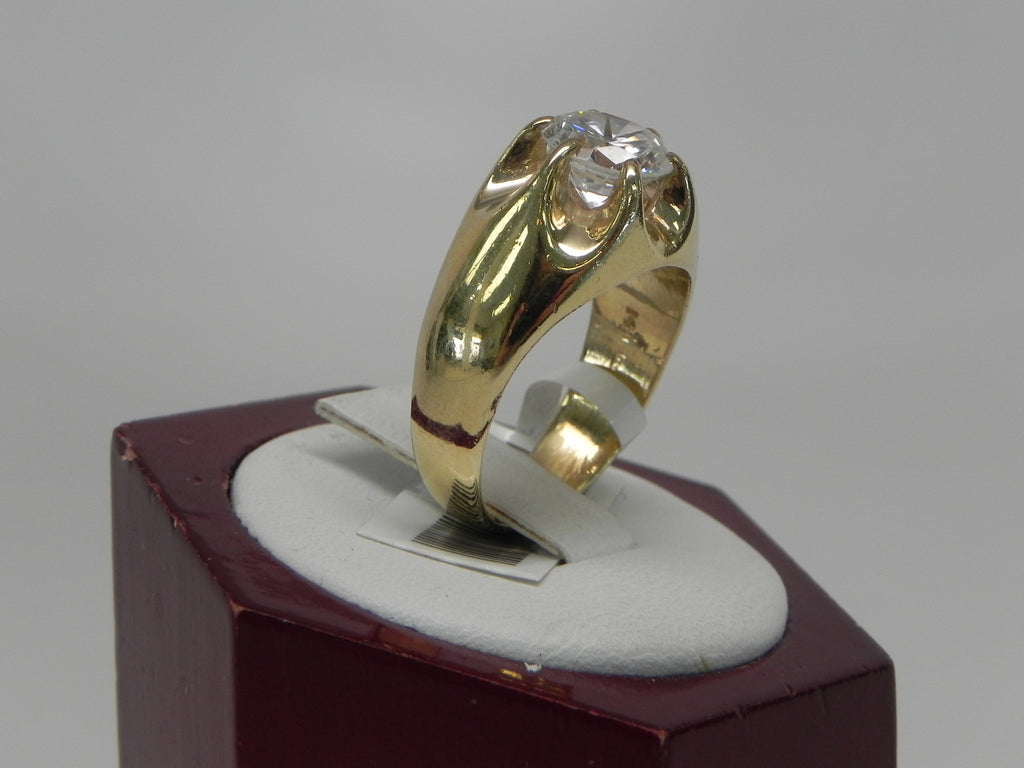 Man's Diamond Ring 14K Yellow Gold