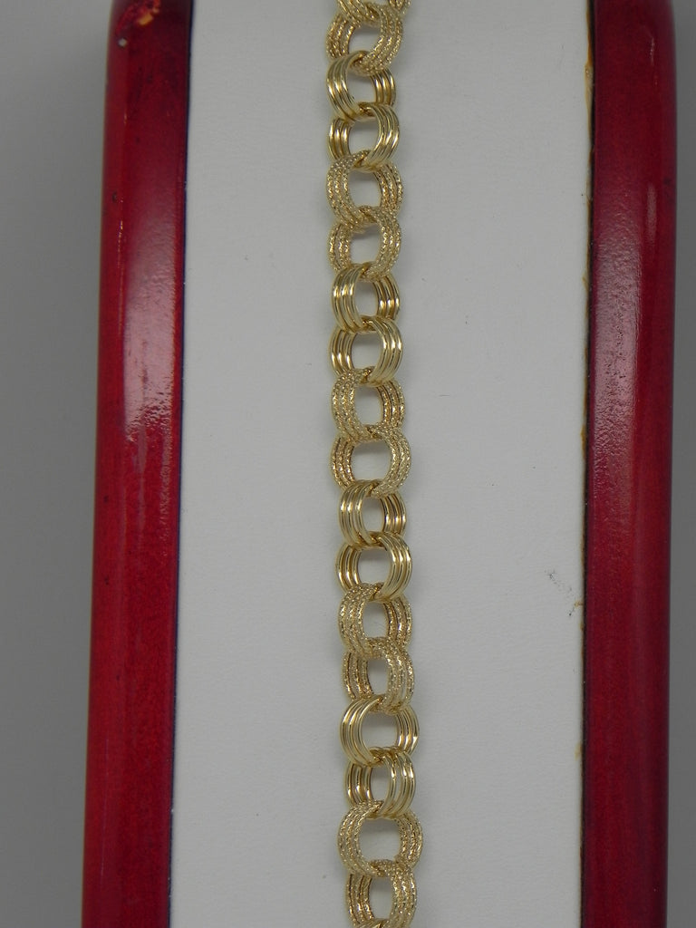 Solid Women Bracelet 14K Yellow Gold