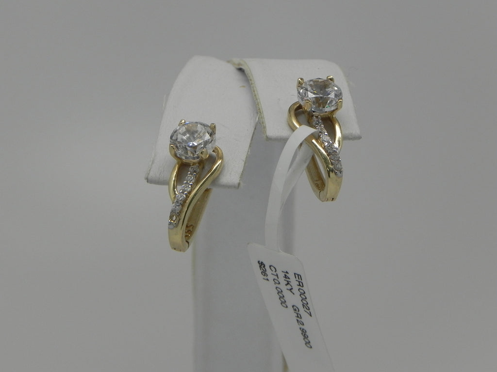 Gorgeous Women Earrings 14K Yellow Gold