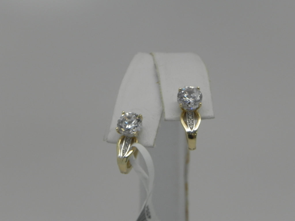 Elegant Woman's Earring 14K Yellow Gold