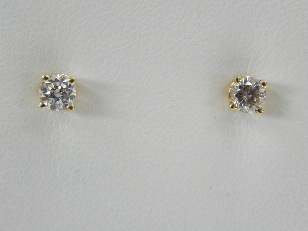 Women Diamond Studs 0.5 ct 14K Yellow Gold