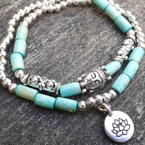 lotus and buddha bracelet