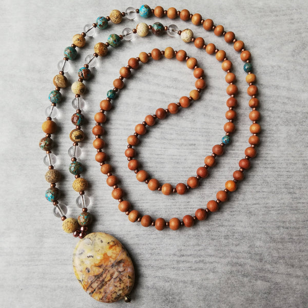 Grounding Meditation Mala Beads