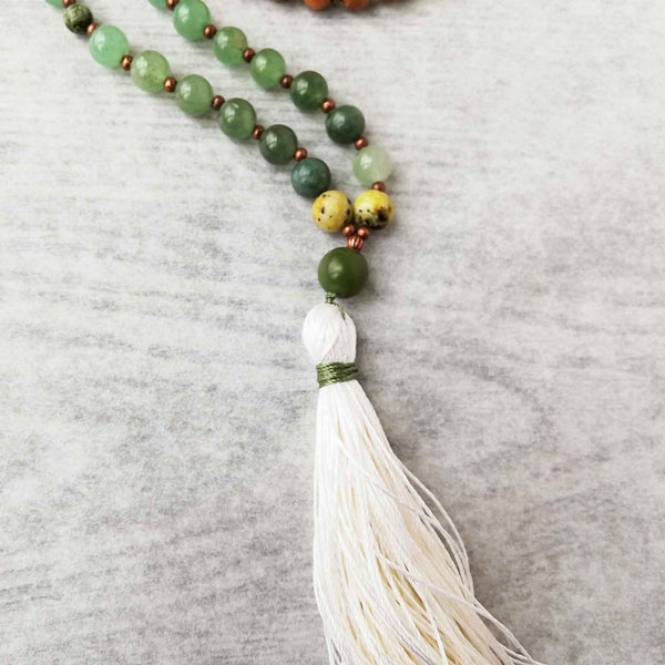closeup of tassel for return to self mala