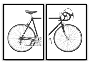 Two pieces of Bike - Hvid