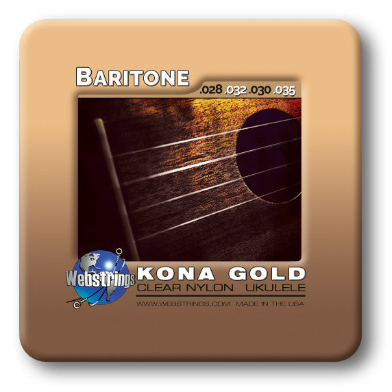UKULELE STRINGS - KONA GOLD - CRYSTAL TREBLES