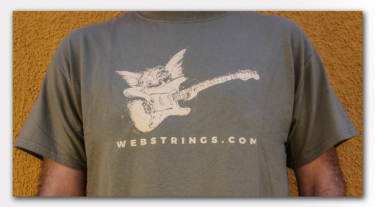 Guitar and Amplifier T-Shirts: The Webstrings Cherub T-Shirt