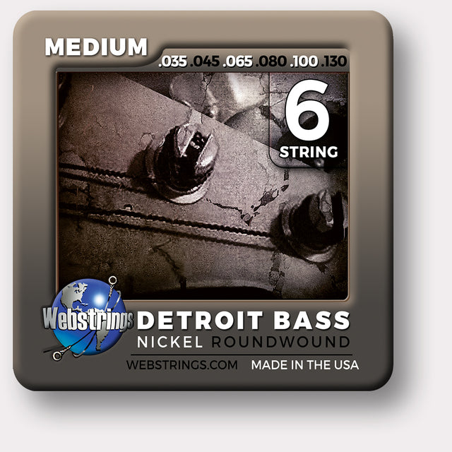 Webstrings Detroit Bass 6 String Nickel Round Wound Bass Strings,  Exceptional Tone and Quality along with long life and the lowest price. Webstrings Detroit Bass 6 String Nickel Round Wound Bass Strings feel and sound incredible. Webstrings Detroit Bass 6 String Nickel Round Bass Strings are an exceptional value.