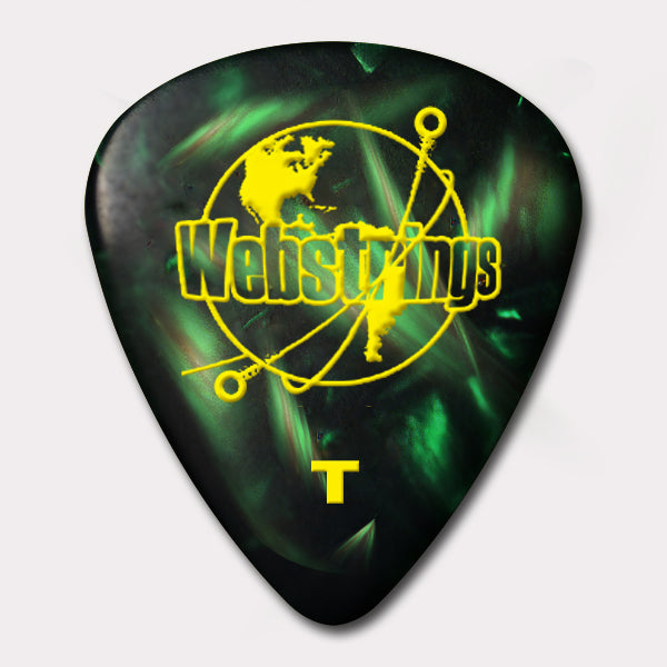 GUITAR PICKS - STANDARD CELLULOID - JADE