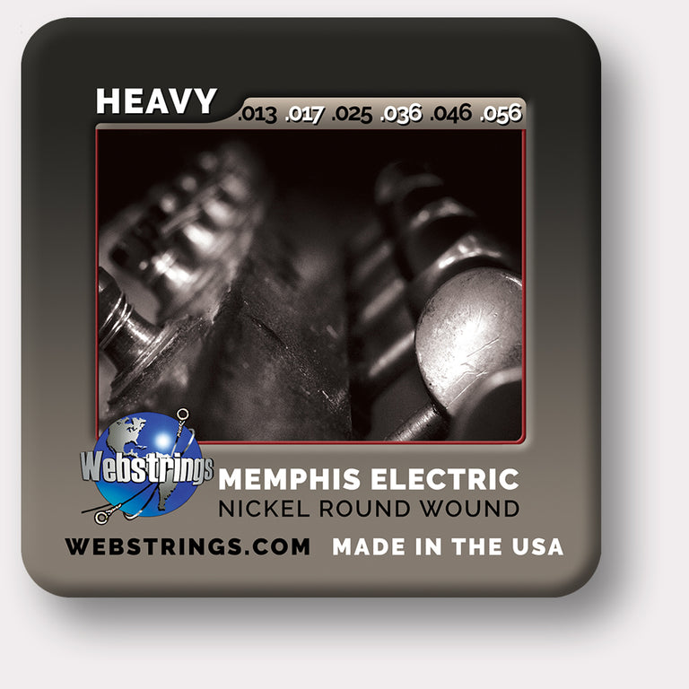 ELECTRIC GUITAR STRINGS - MEMPHIS ELECTRIC - NICKEL PLATED STEEL - 6 STRING